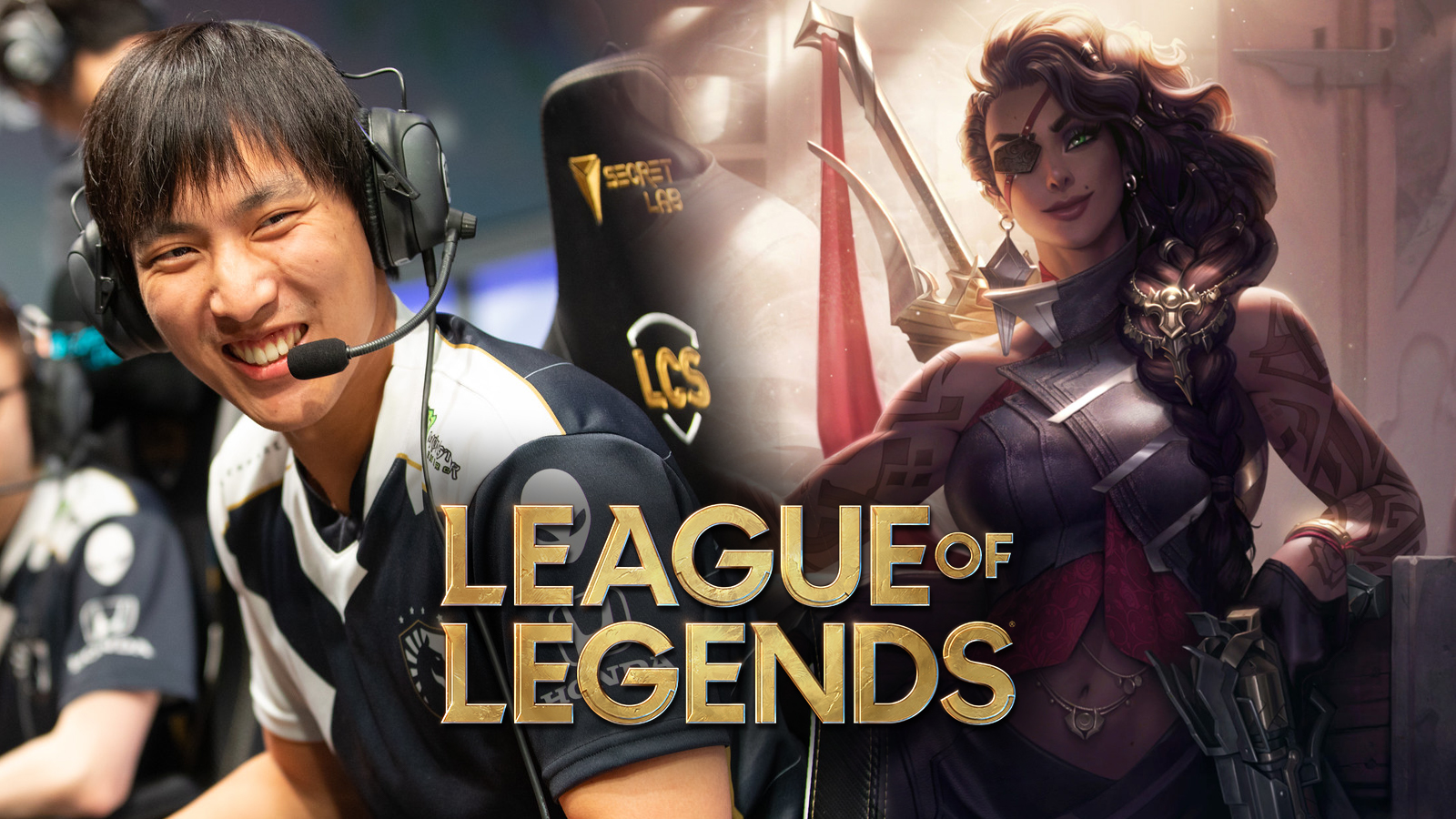 Doublelift and Samira in League of Legends