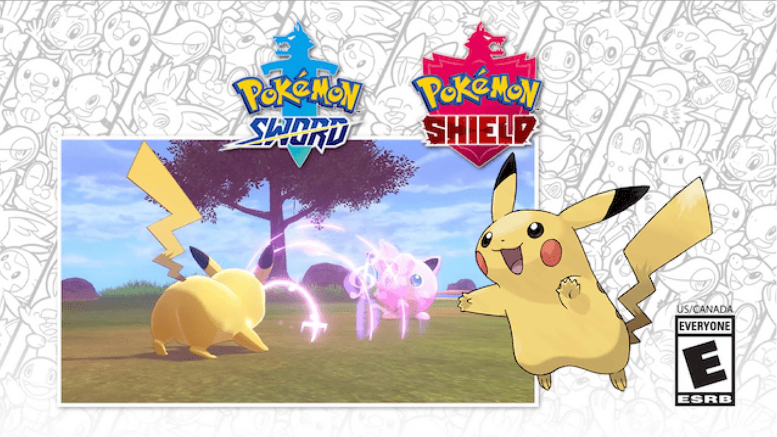 Screenshot of Pokemon Sword & Shield Sing Pikachu.