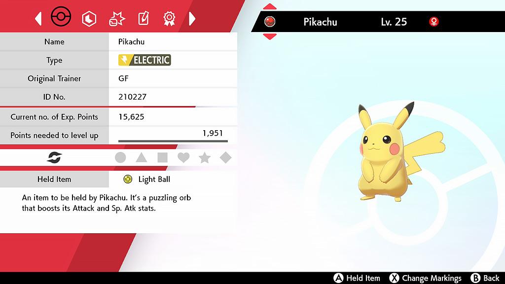 Screenshot of Sing Pikachu in Pokemon Sword & Shield.