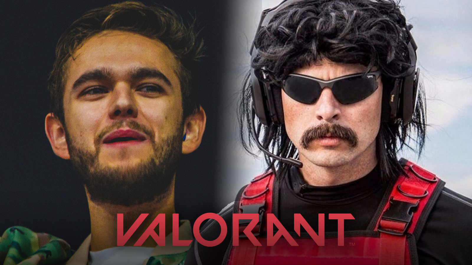 Zedd and Dr Disrespect playing Valorant