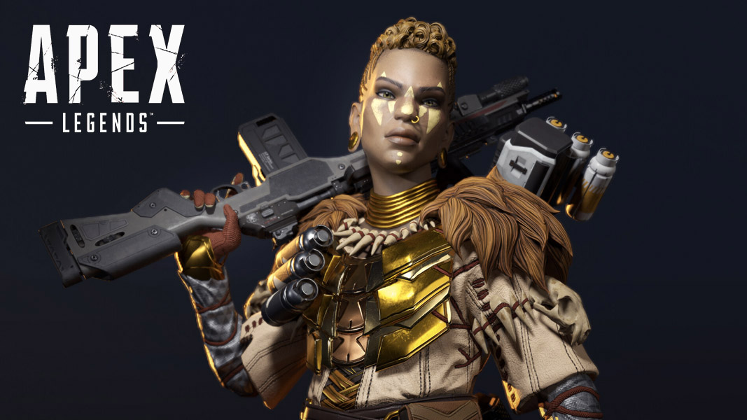 Bangalore in war paint in apex Legends