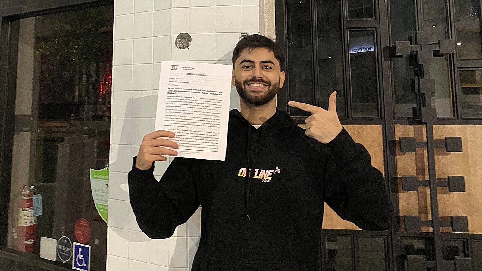Yassuo fake cease and desist letter from bella and kat evolved
