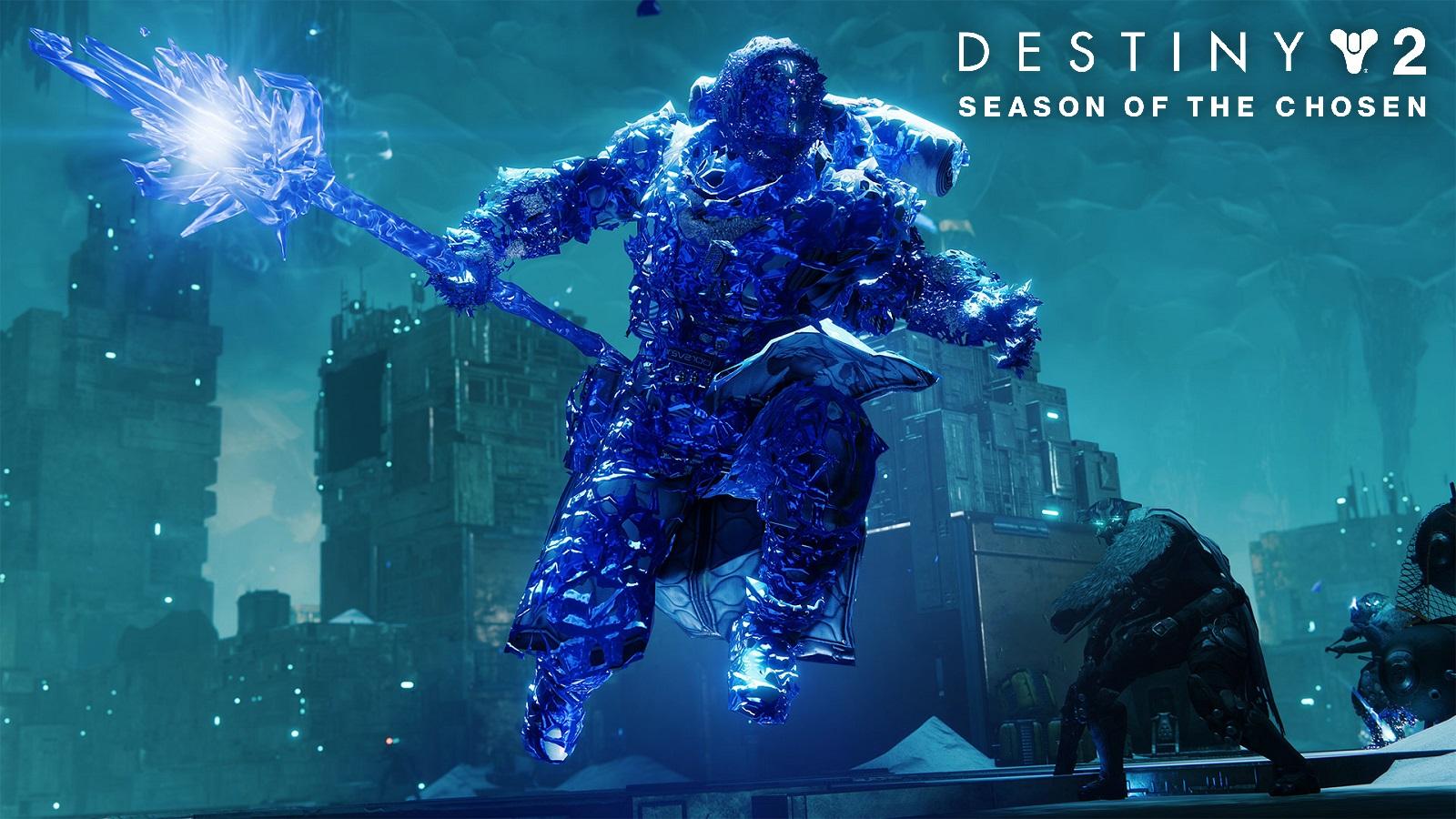 Destiny 2 Stasis Shadebinder Warlock With Season of the Chosen Text