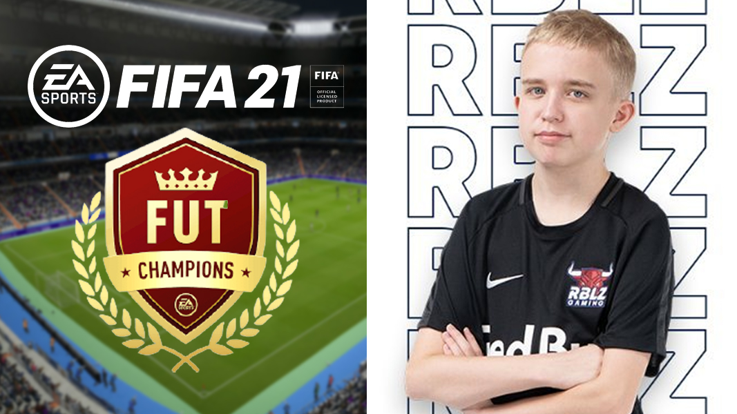 Anders Vejrgang next to FIFA 21 FUT Champs