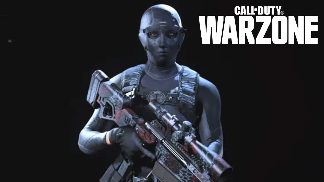 Roze skin from Warzone with the Warzone logo