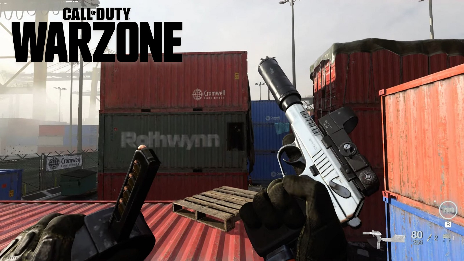 Call of Duty Warzone Modern Warfare Sykov Pistol With Logo