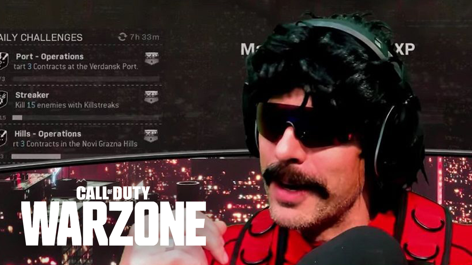 Dr Disrespect playing Call of Duty Warzone on YouTube.
