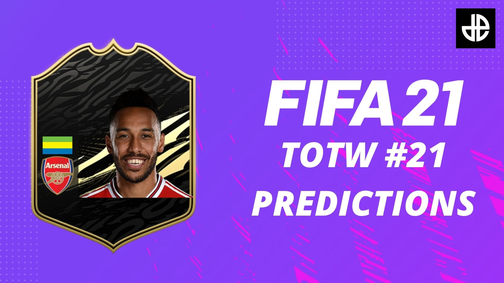 Pierre-Emerick Aubameyang with a FIFA 21 TOTW Card in TOTW 21 predictions