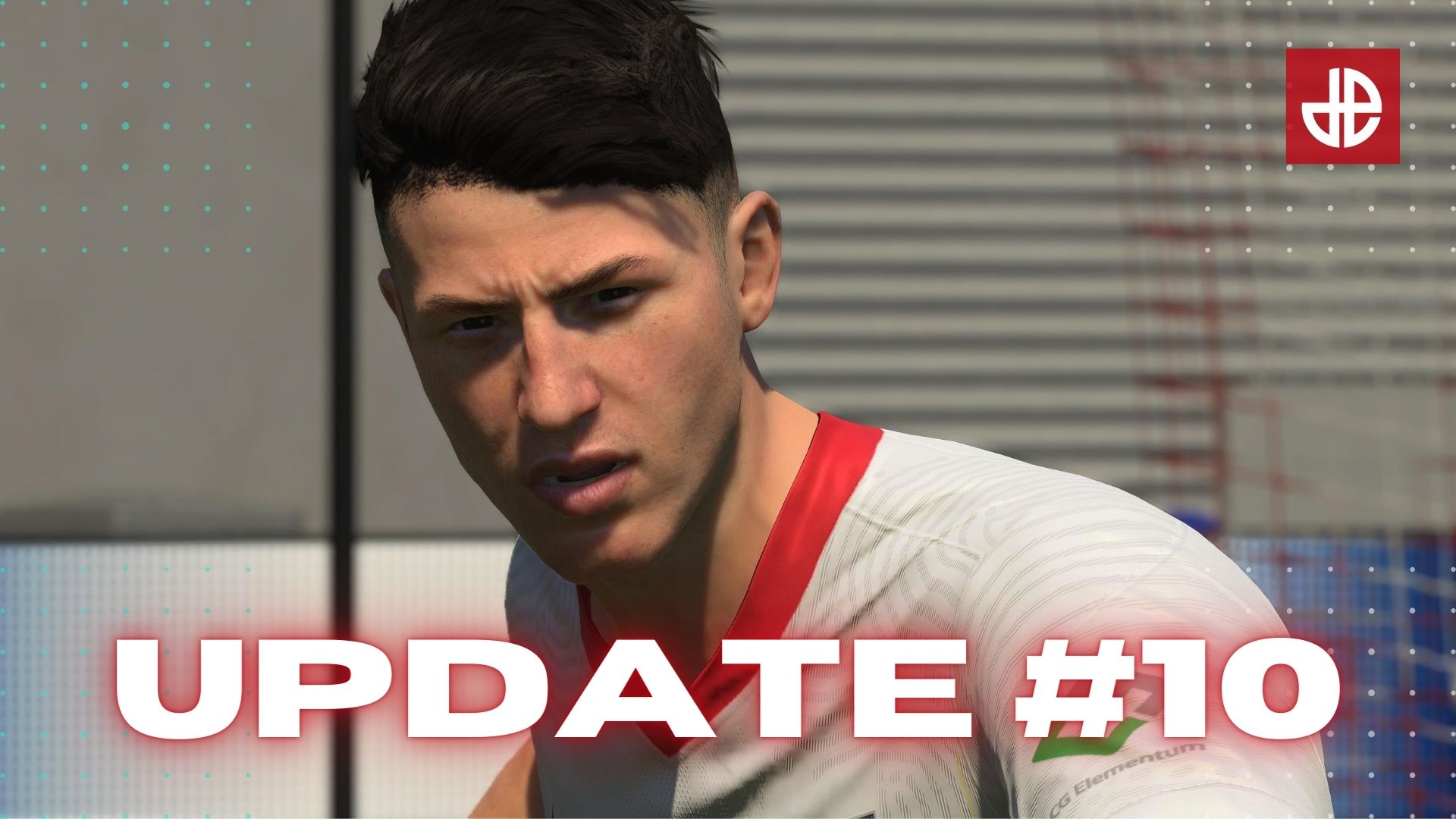 Red Bull Leipzeg player standing over FIFA 21 Title Update 10 patch notes.