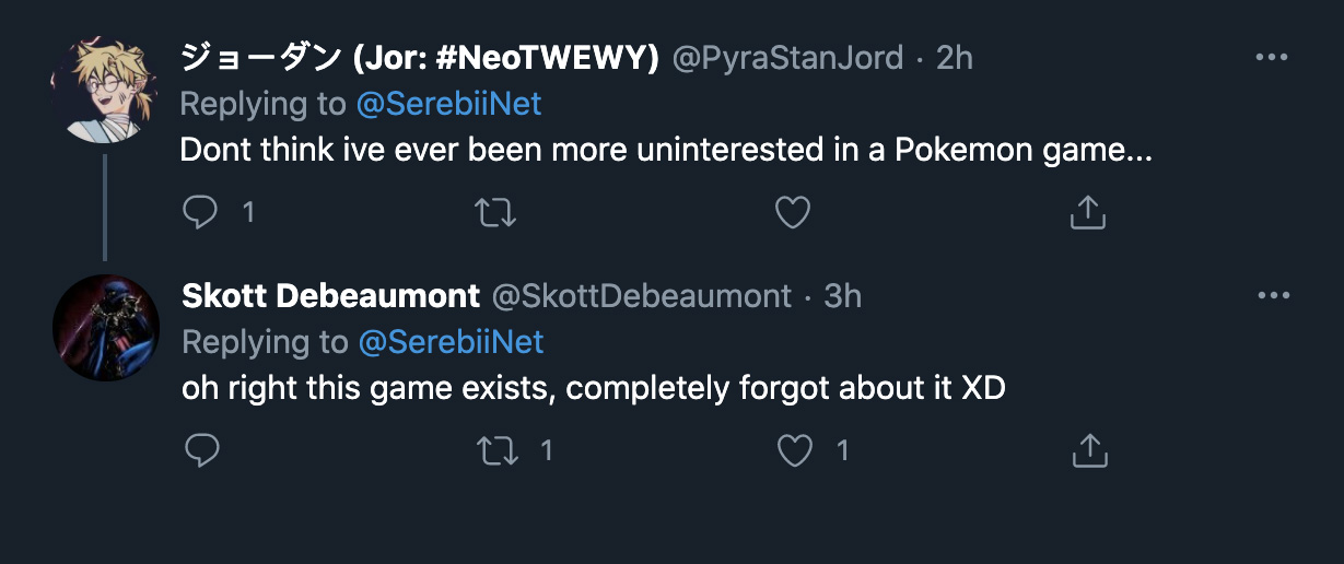 Screenshot of Pokemon fans not be excited for Unite.