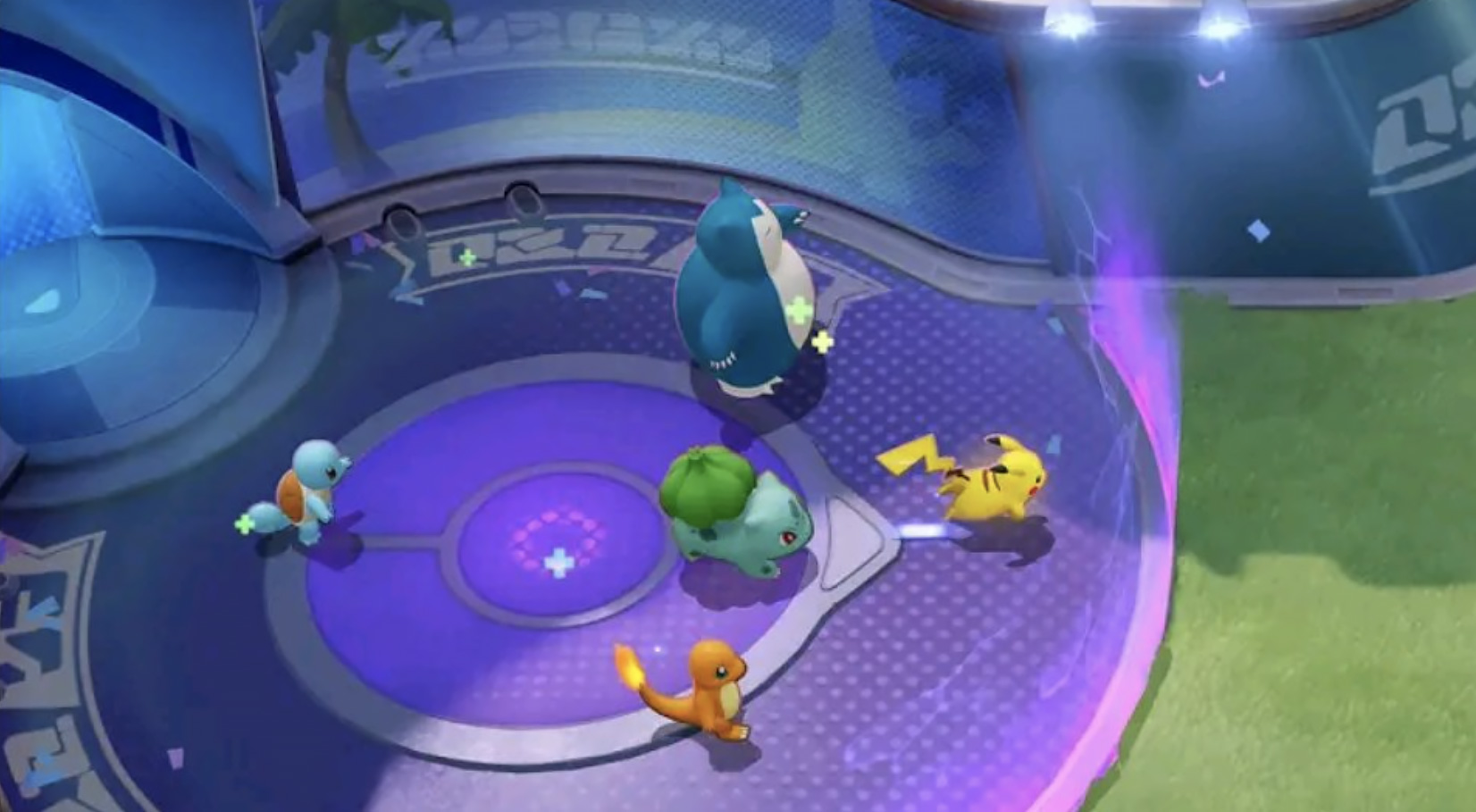 Screenshot of Pokemon Unite gameplay from Canada preview.