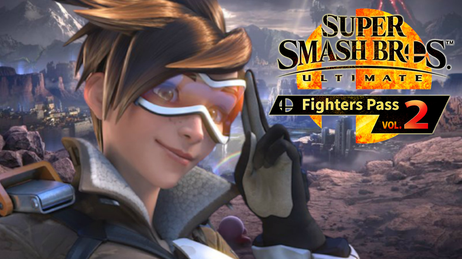 Tracer in Super Smash Bros Ultimate