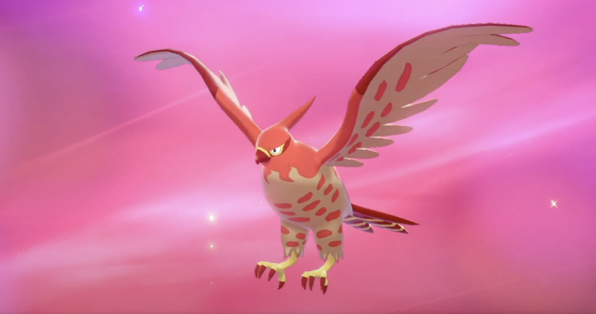 Screenshot of Shiny Talonflame in Pokemon Sword & Shield.