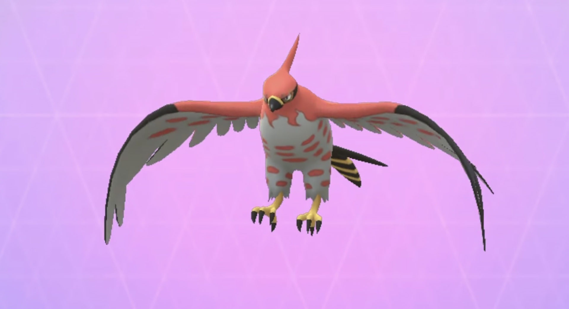 Screenshot of Talonflame Pokemon Go dex entry.