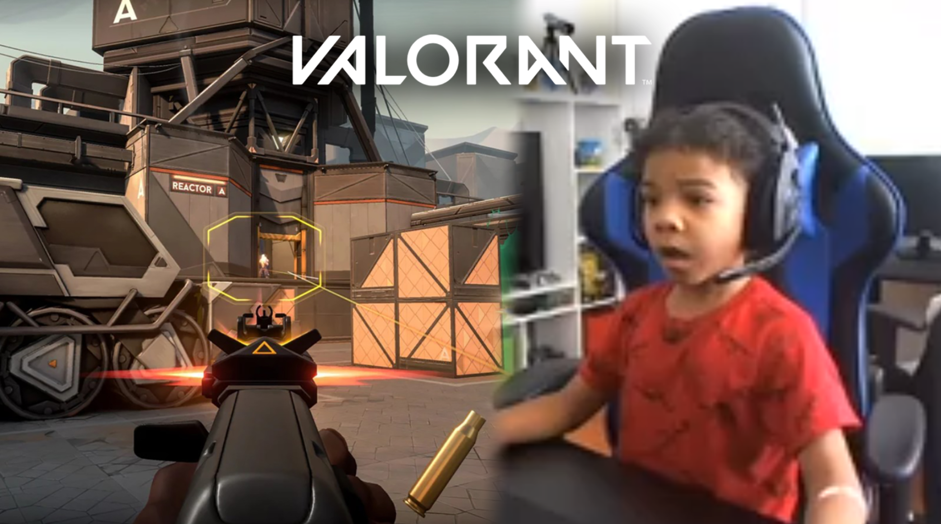 Five year old Valorant player