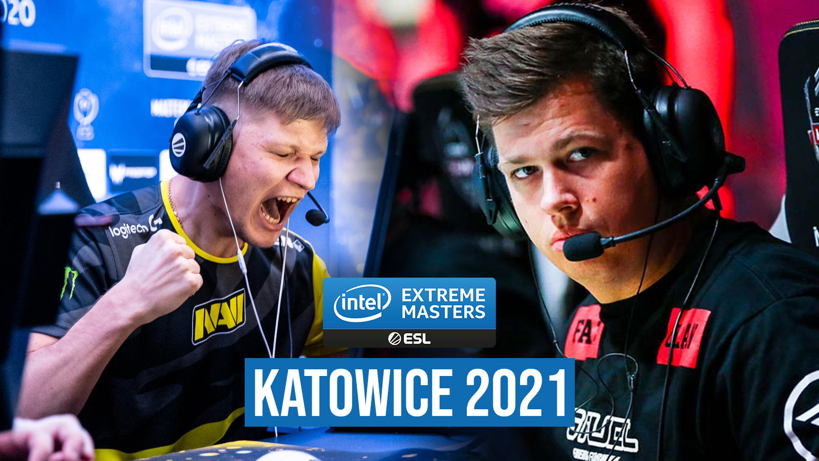 s1mple and Karrigan playing at IEM Katowice 2021