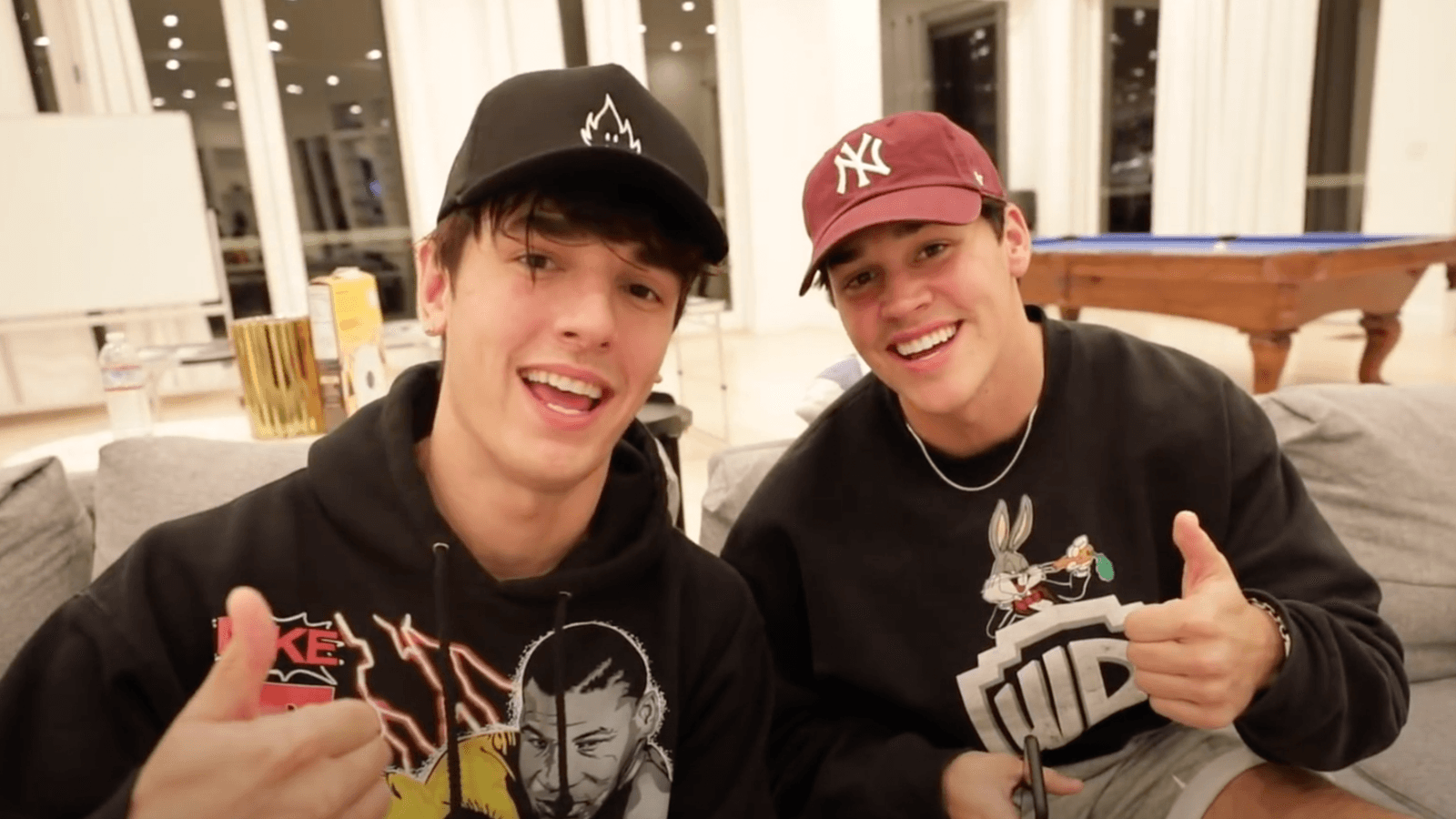 Bryce Hall pranks Noah Beck with strippers