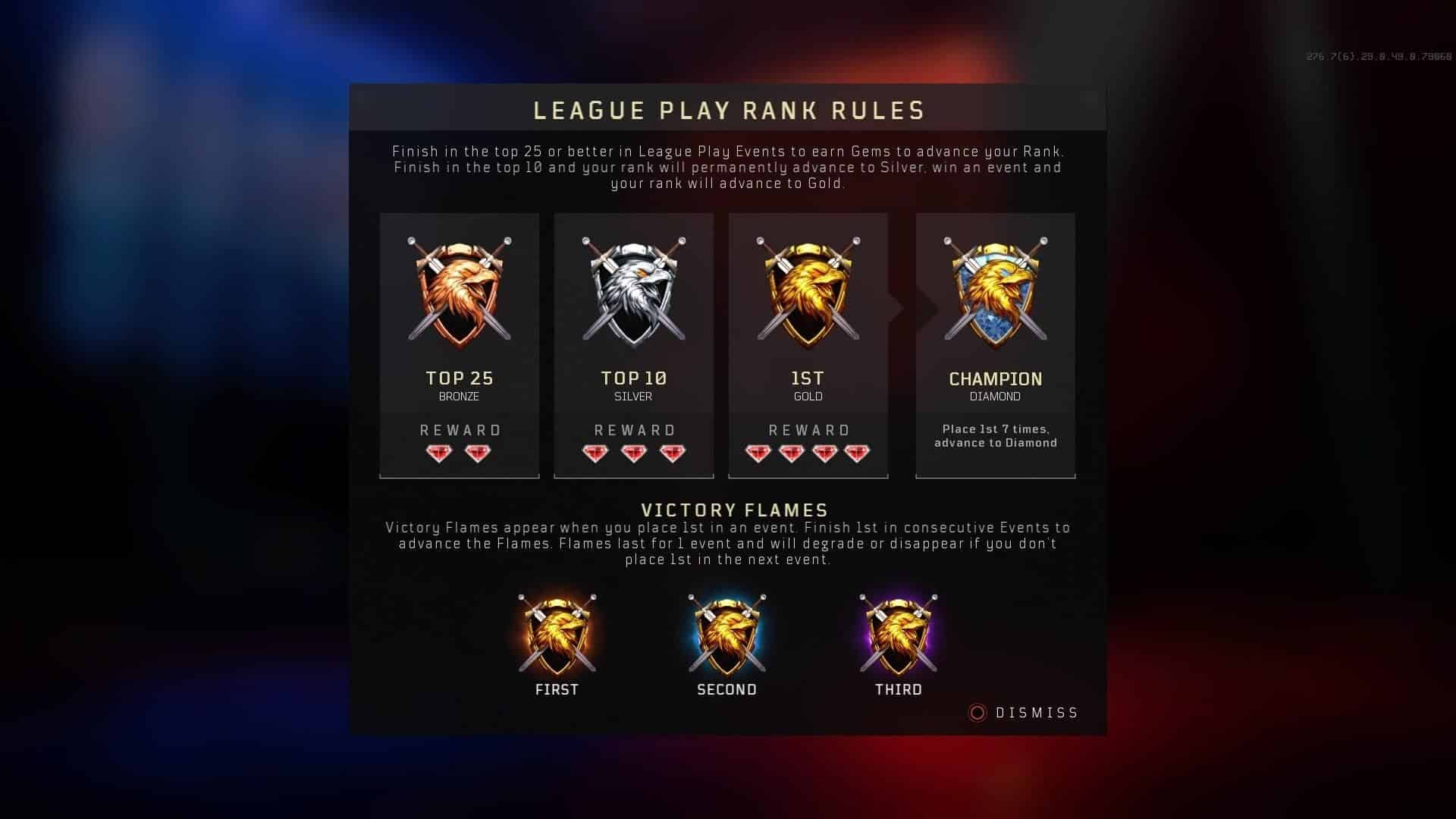 league play gems black ops cold war