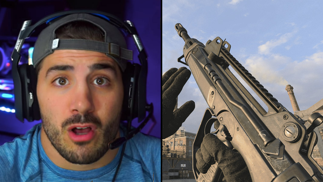 Nickmercs side-by-side with a FFAR from Cold War