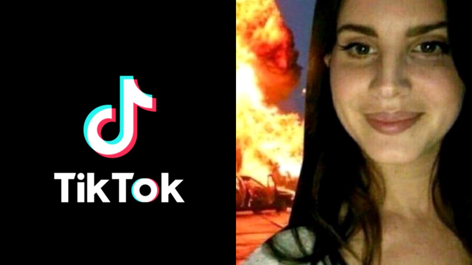 The 'Lana Cult' profile picture next to the TikTok logo