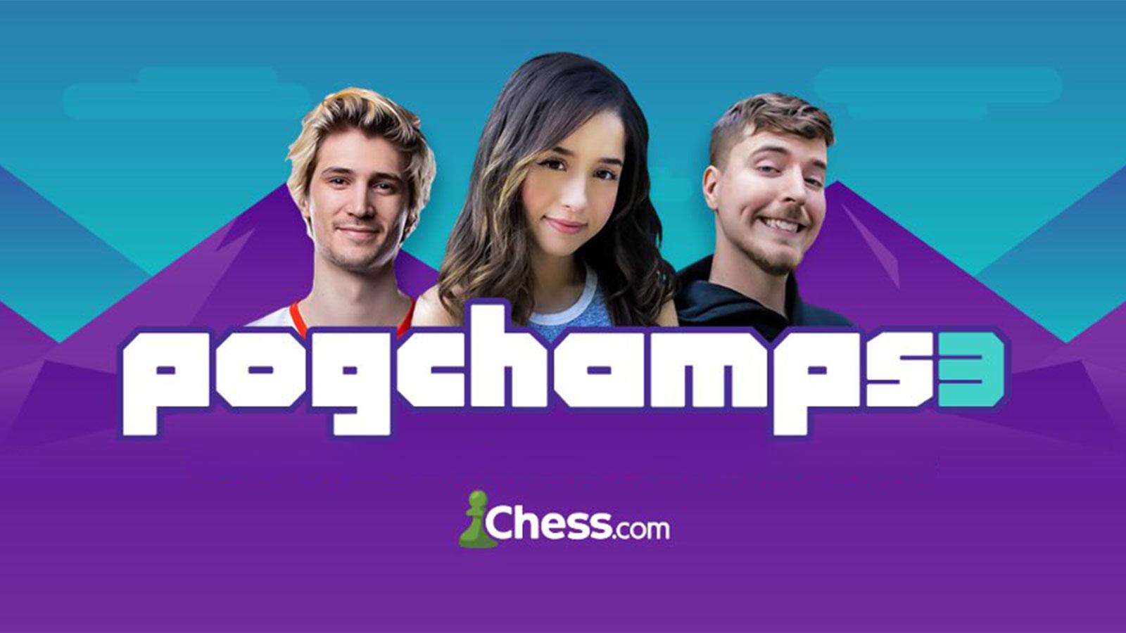 pogchamps 3 chess xqc pokimane