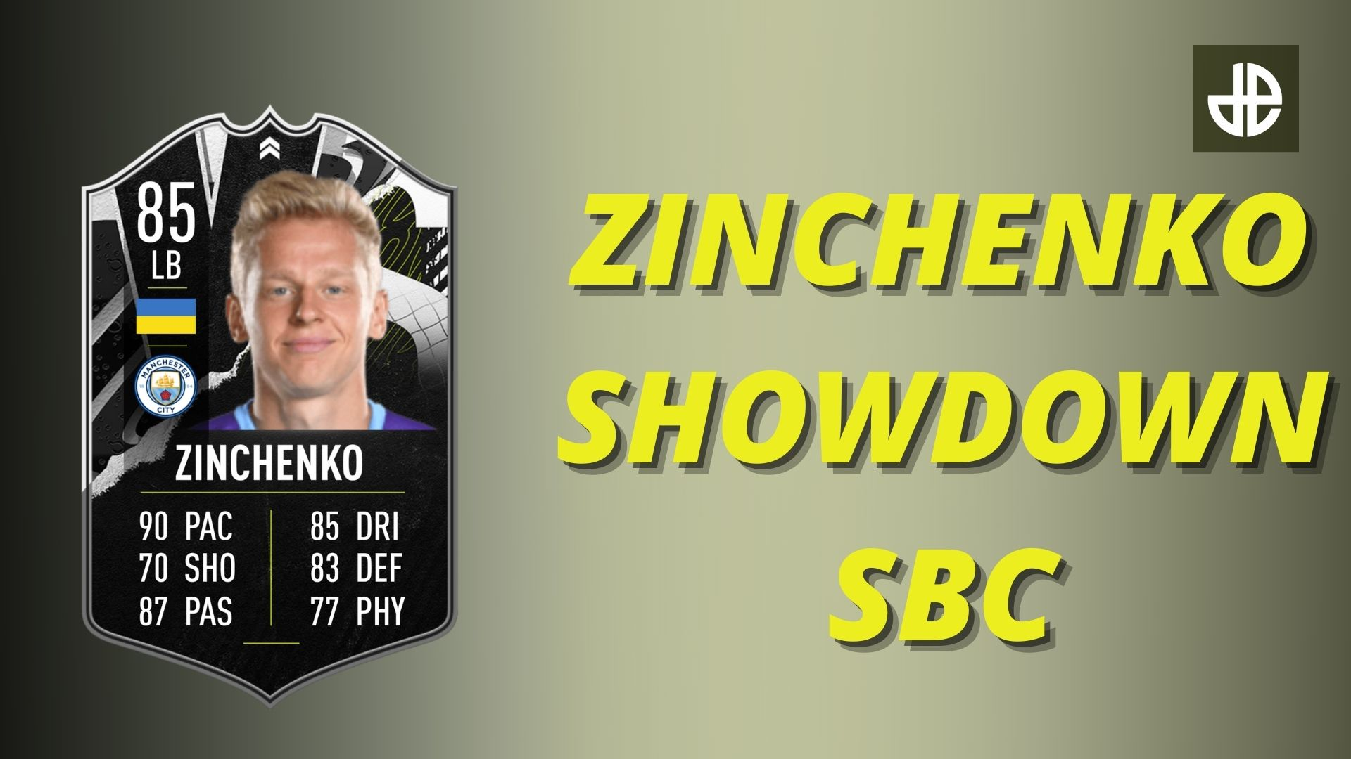 Zinchenko showdown SBC card in FIFA 21