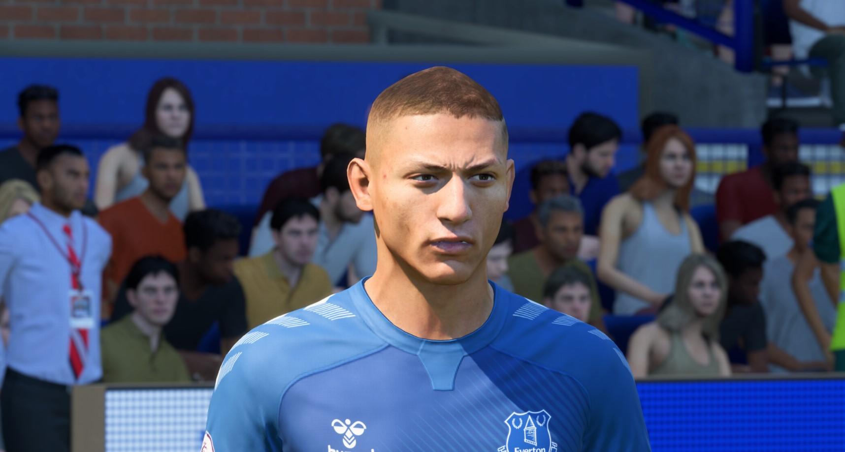 Richarlison for Everton in FIFA 22.