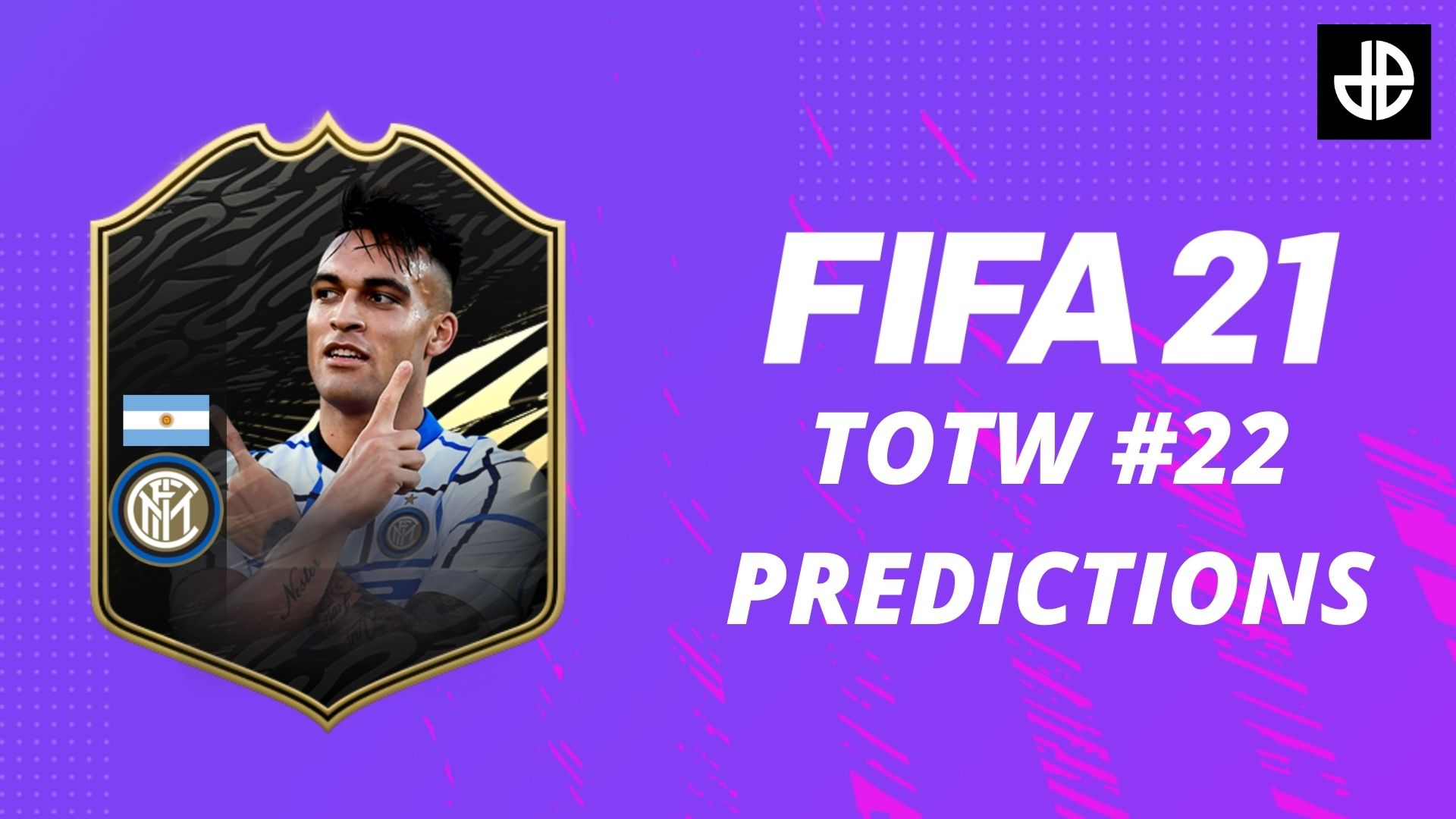 fifa 21 totw 22 precictions with lautaro martinez card