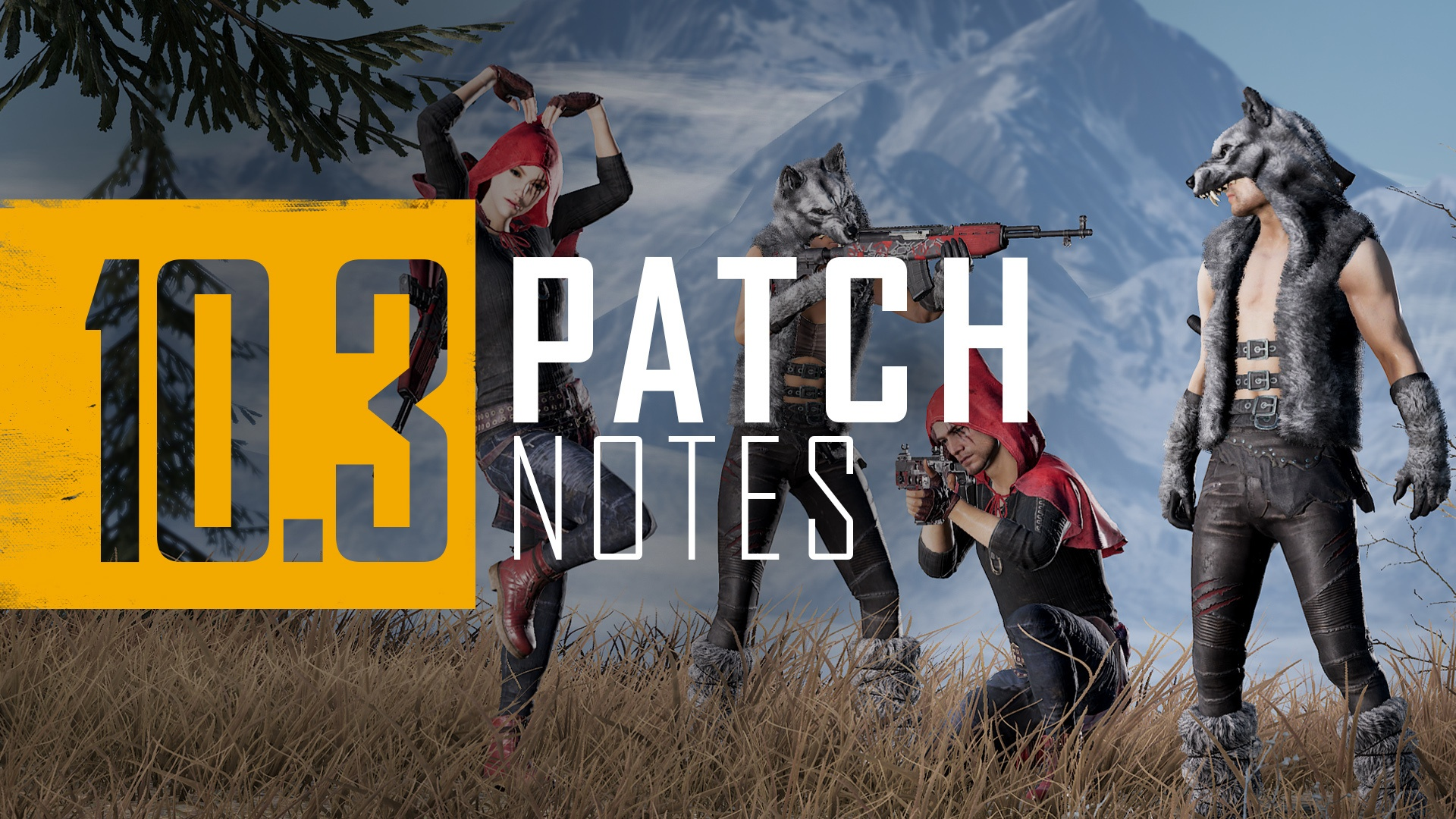 PUBG 10.3 update patch notes header