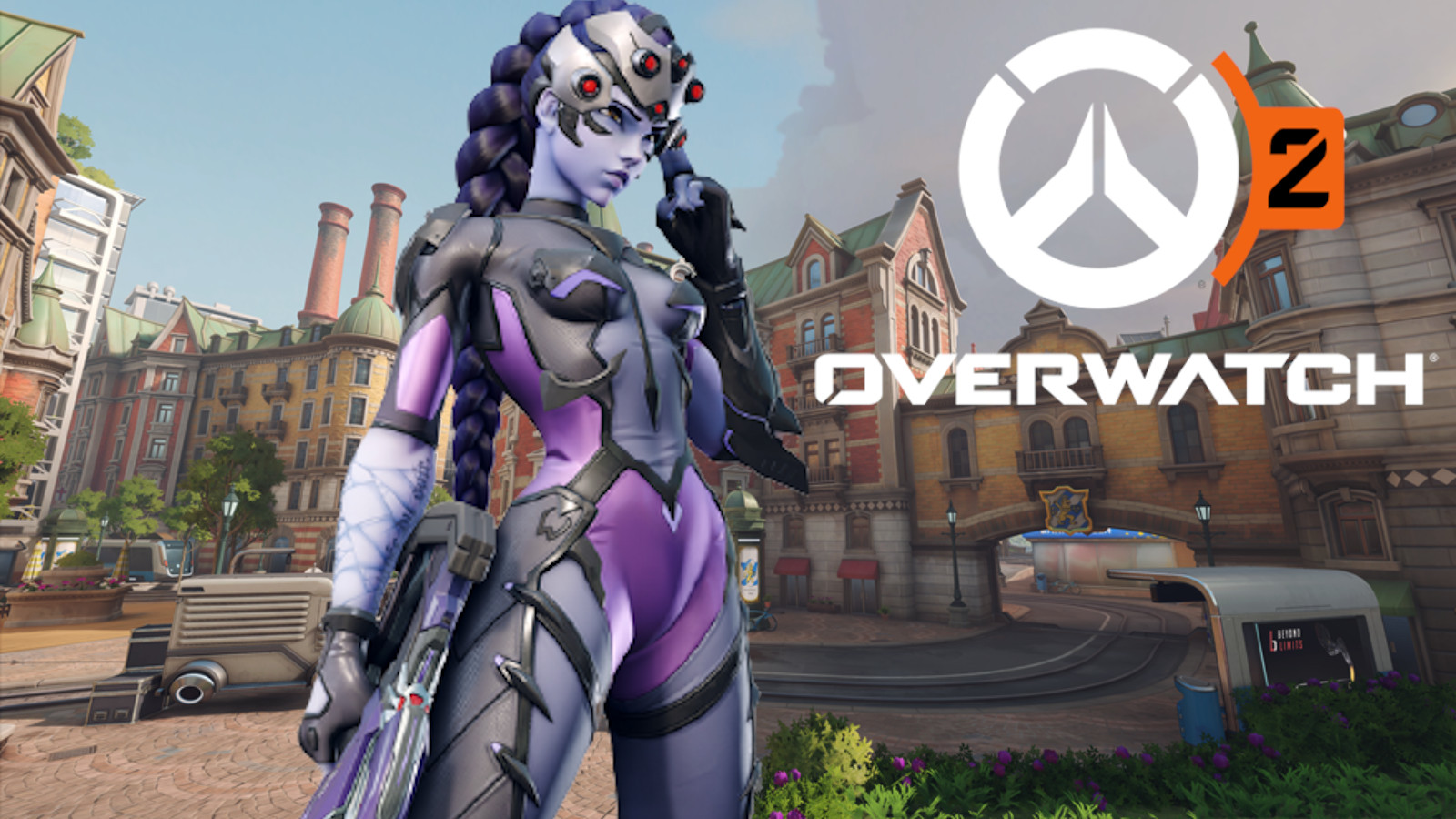 Widowmaker in Overwatch 2's Gothenberg map