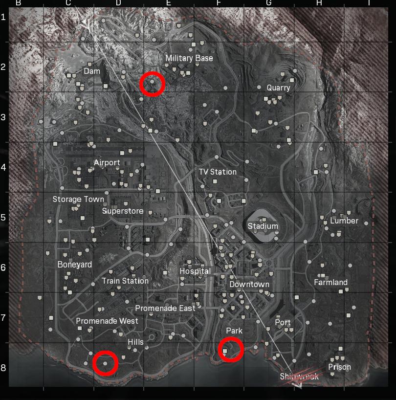 Weapon Silo locations in Warzone Season 2.