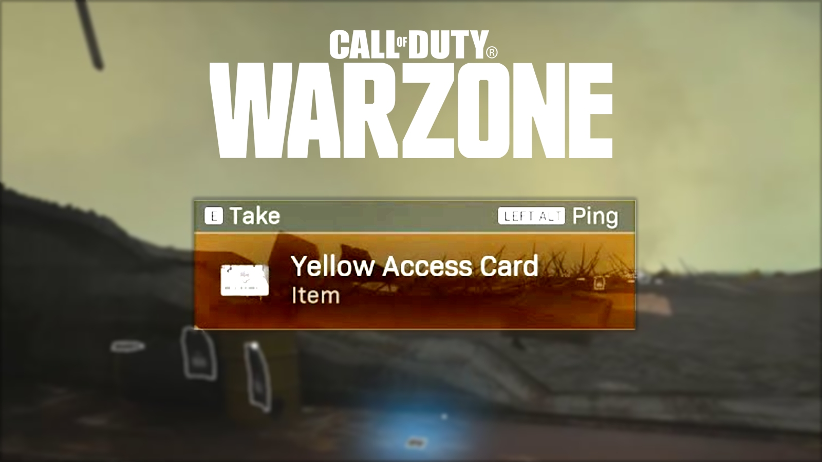 Warzone yellow access card location