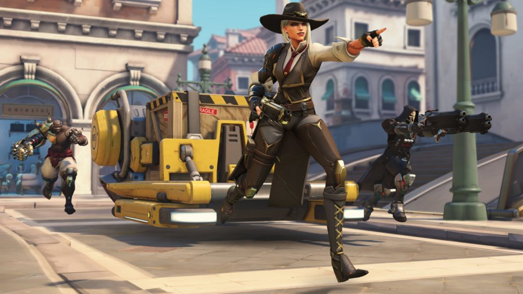 Ashe escorts the payload