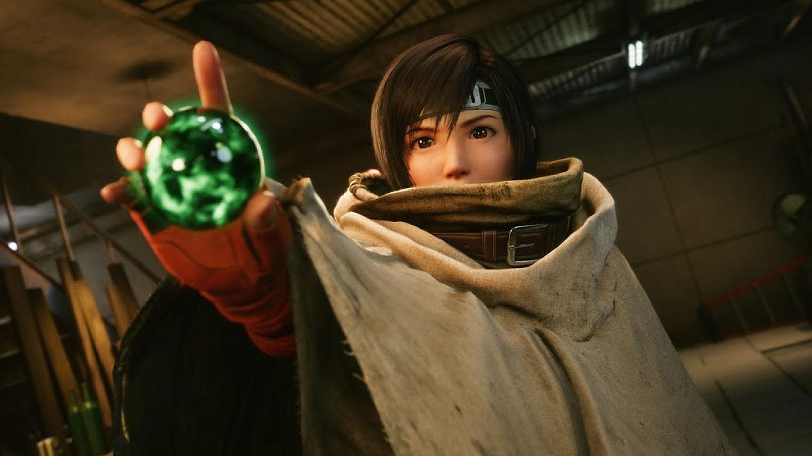 Screenshot of Yuffie in Final Fantasy VII remake update.