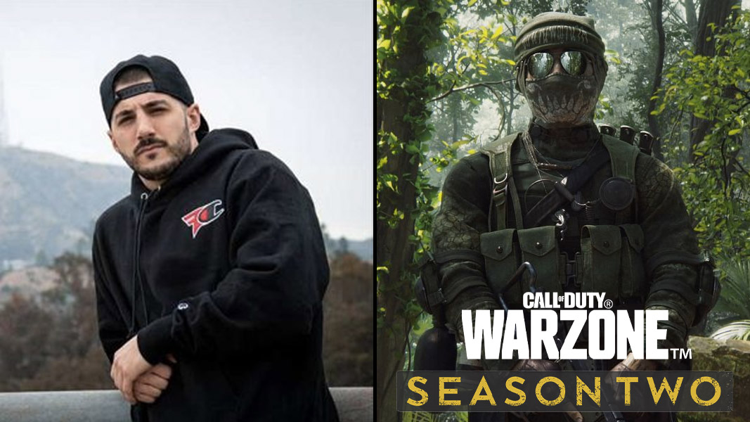 Nickmercs and a character from Warzone Season 2