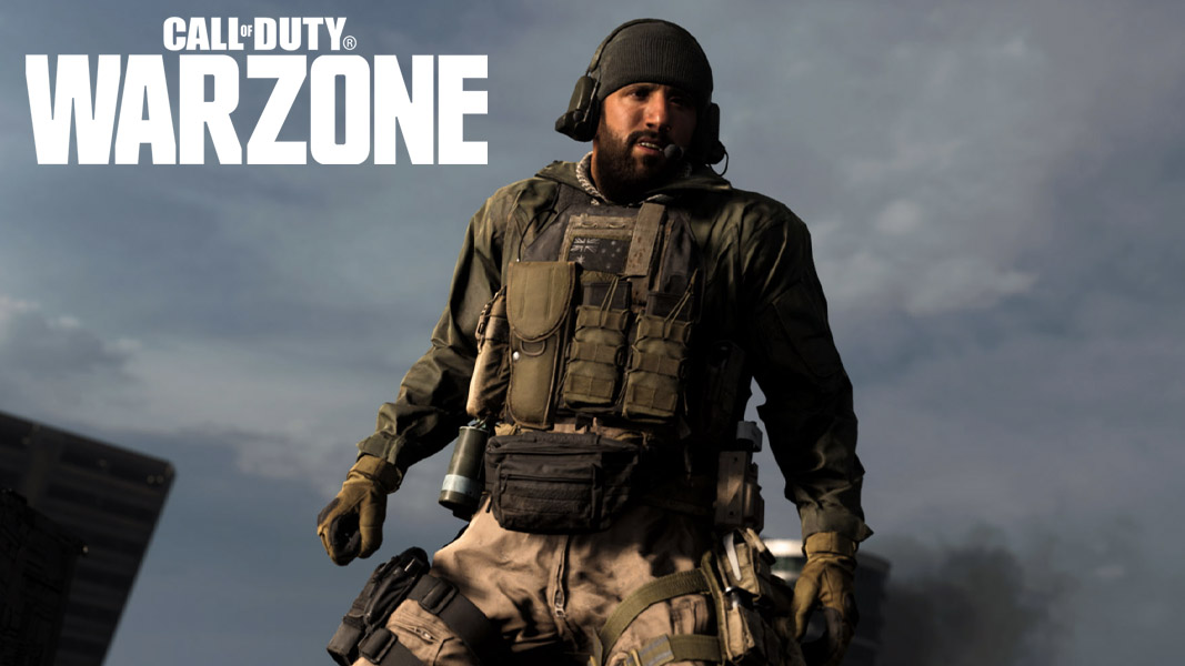 Warzone character without any weapons