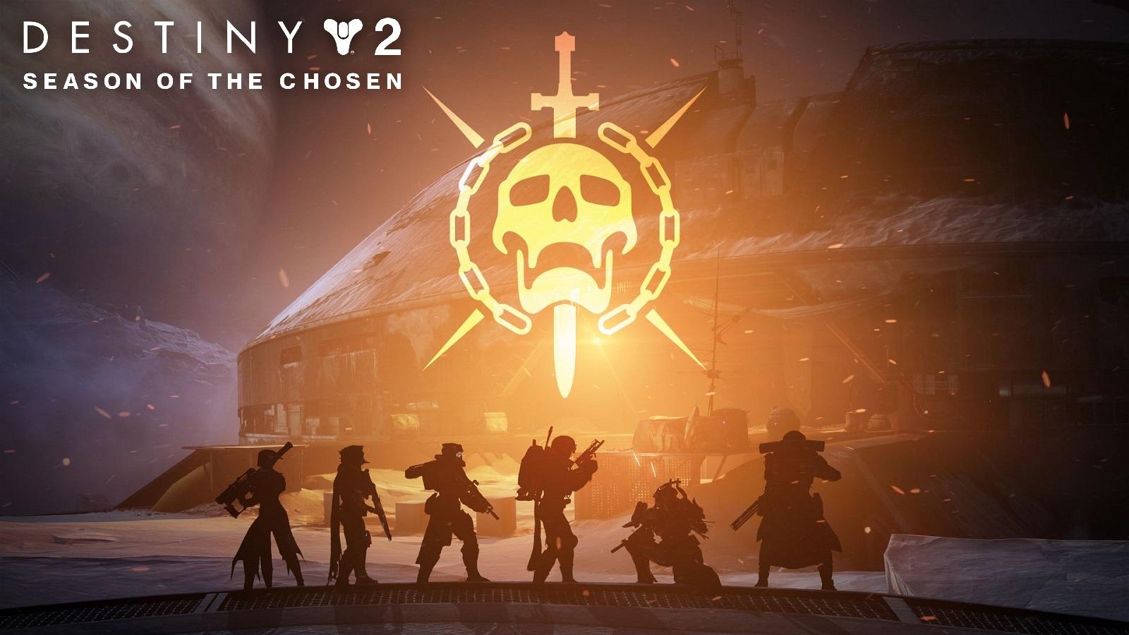 Destiny 2 Deep Stone Crypt Guardians With Raid Logo Season of the Chosen Text