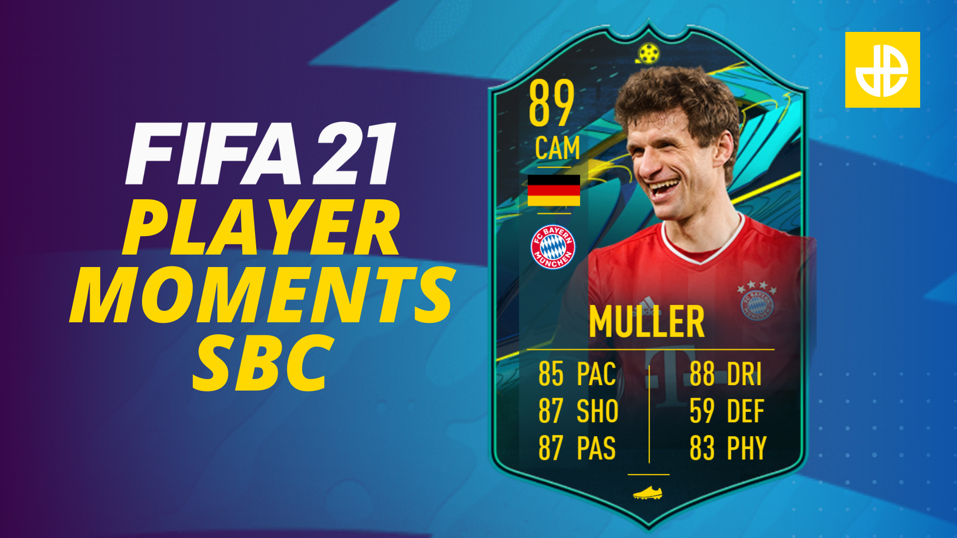 Thomas Muller FIFA 21 Player Moments SBC