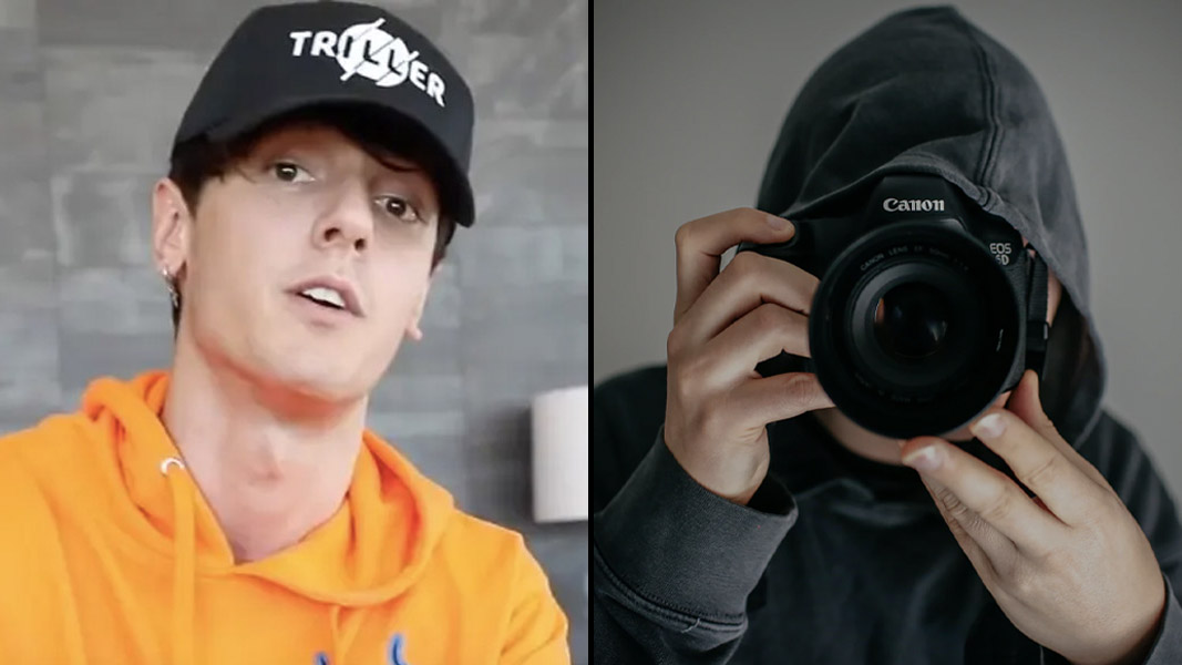 Bryce Hall side by side with a camera