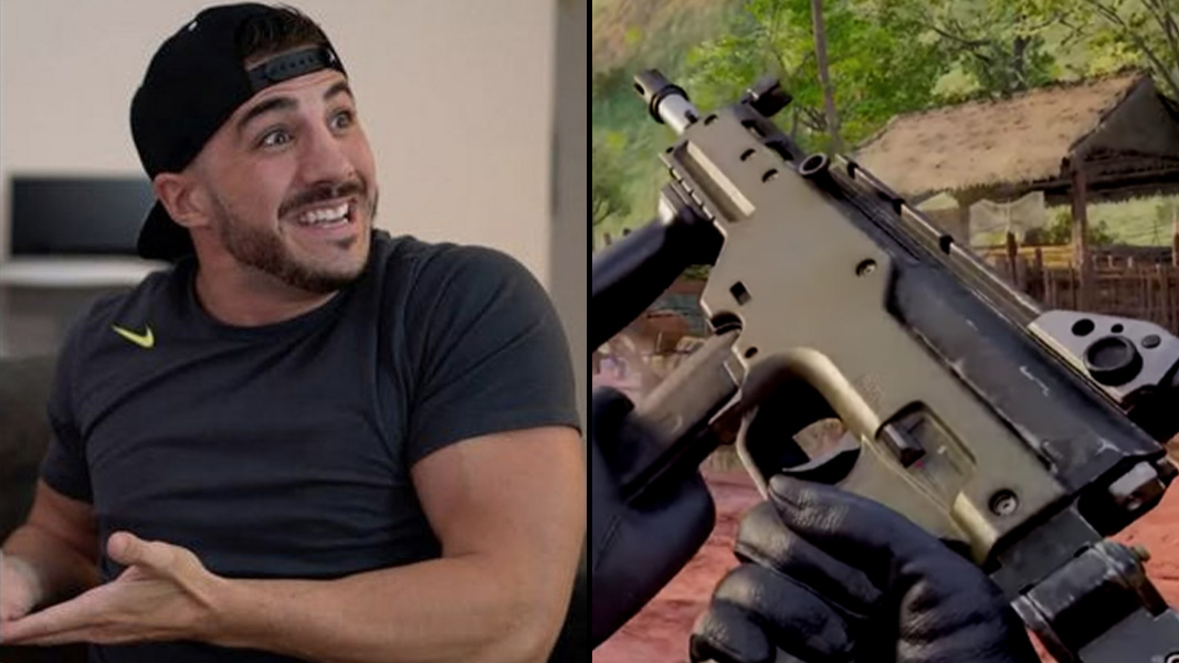 Nickmercs and the LC10 SMG from Warzone