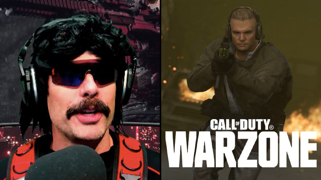Dr Disrespect and a Warzone character