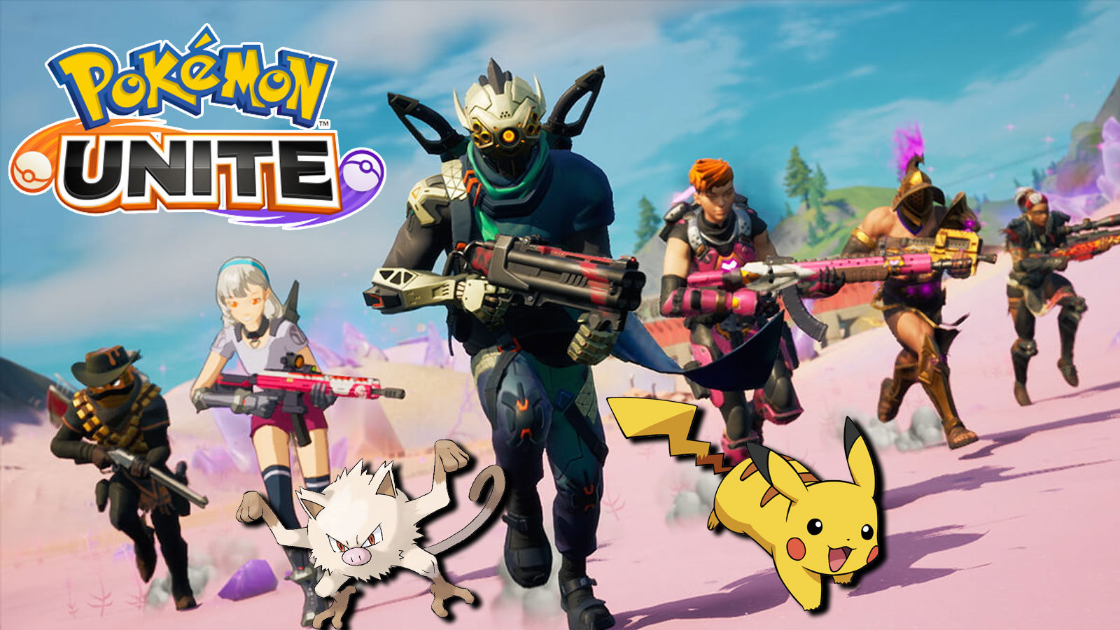 Screenshot of Fortnite with Pokemon characters.