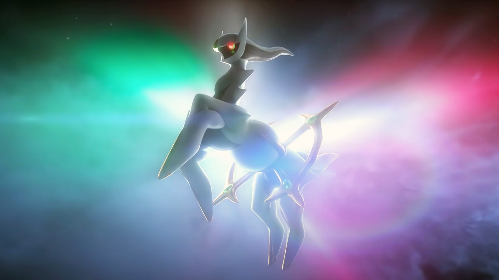 Screenshot of Legendary Pokemon Arceus in Pokemo Legends trailer.
