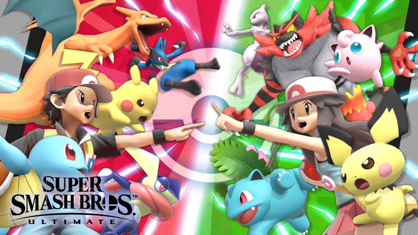 Pokemon battle in Smash Ultimate