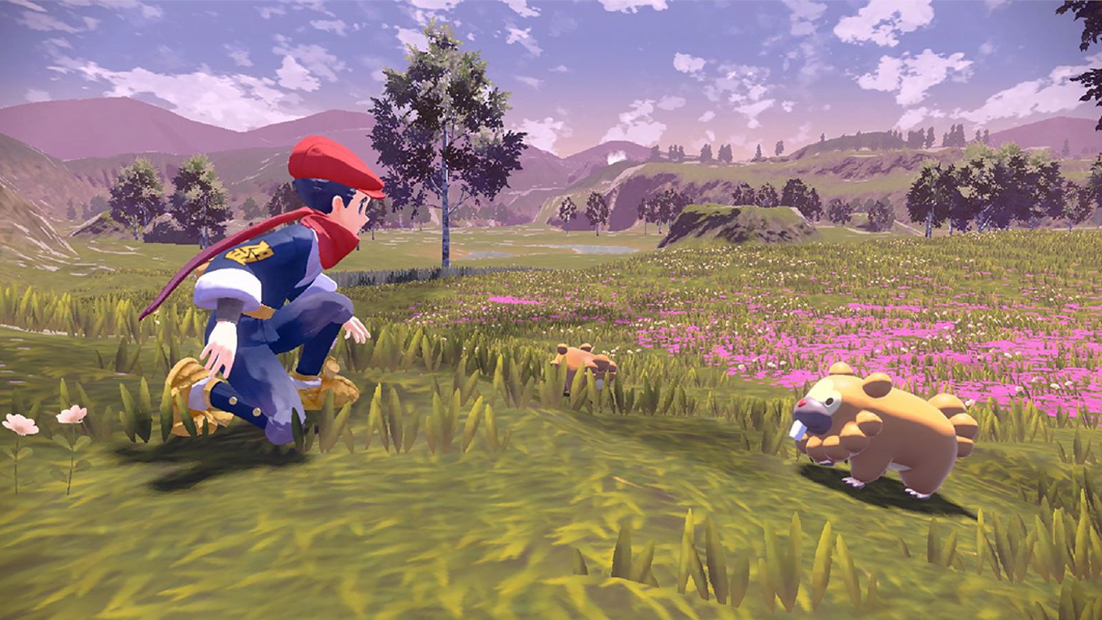 Screenshot of Pokemon Legends Arceus.