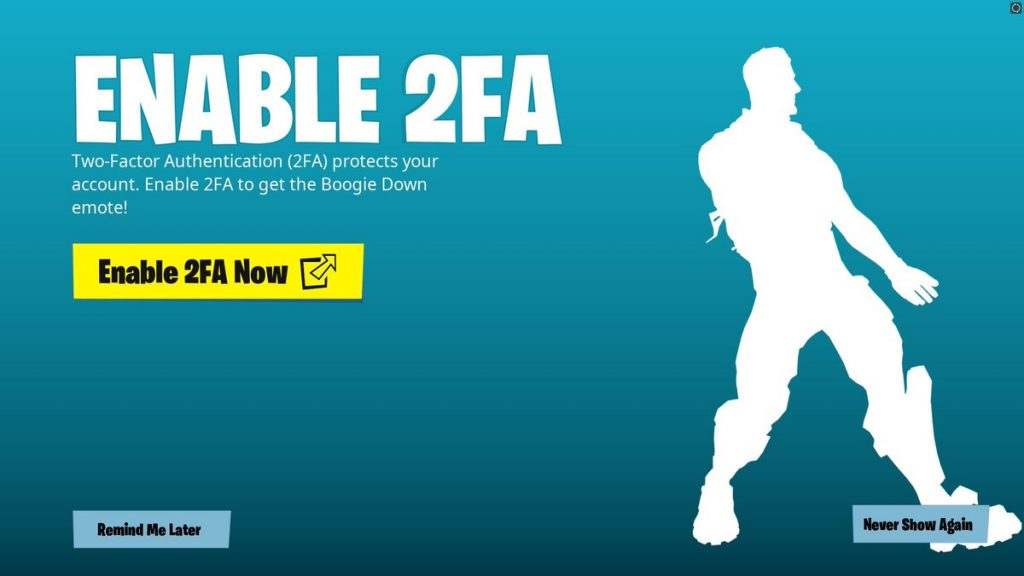 Fortnite 2FA rewards