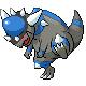 Screenshot of Rampardos in Pokemon Diamond.