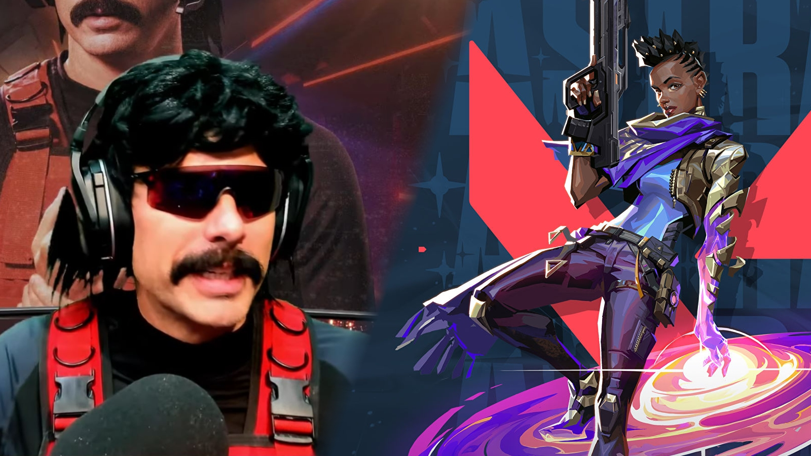 Dr Disrespect Astra Valorant Agent Combined
