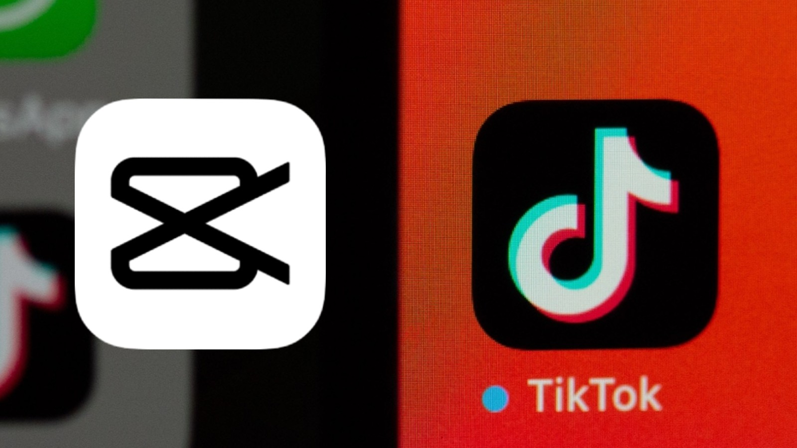 CapCut logo next to the TikTok logo