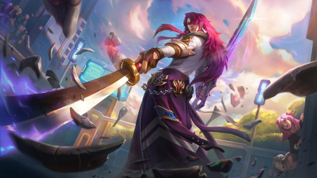 """Yone (pictured) is one of five LoL champs getting """"Battle Academia"""" skins this patch."""